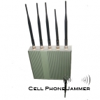 Desktop Cell Phone + GPS + Wifi Jammer with Remote Control - 50 Meters [CMPJ00123]