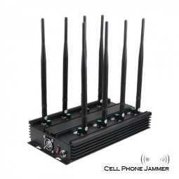 Ultimate 8-Band Wireless Signal Jammer Terminator for Cell Phone, WiFi Bluetooth, UHF, VHF, GPS, LoJack