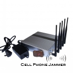 Wall Mounted Cellphone GPS Signal Jammer with Remote Control - 40 Meters [CMPJ00101]