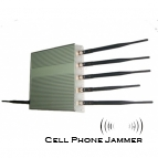 15W Multifunctional Jammer - Cell Phone + GPS + Wifi Signal 6 Antenna [JAMMERN0012]